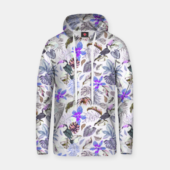 Toucan in the lilac jungle I Sudadera con capucha Bild der Miniatur