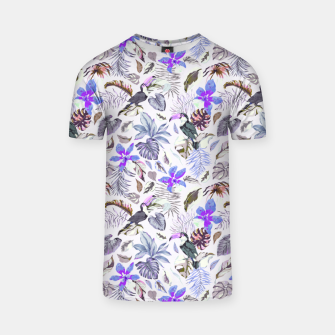 Toucan in the lilac jungle I Camiseta Bild der Miniatur