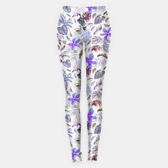 Toucan in the lilac jungle I Leggings Bild der Miniatur