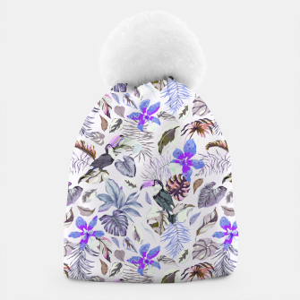 Toucan in the lilac jungle I Gorro Bild der Miniatur