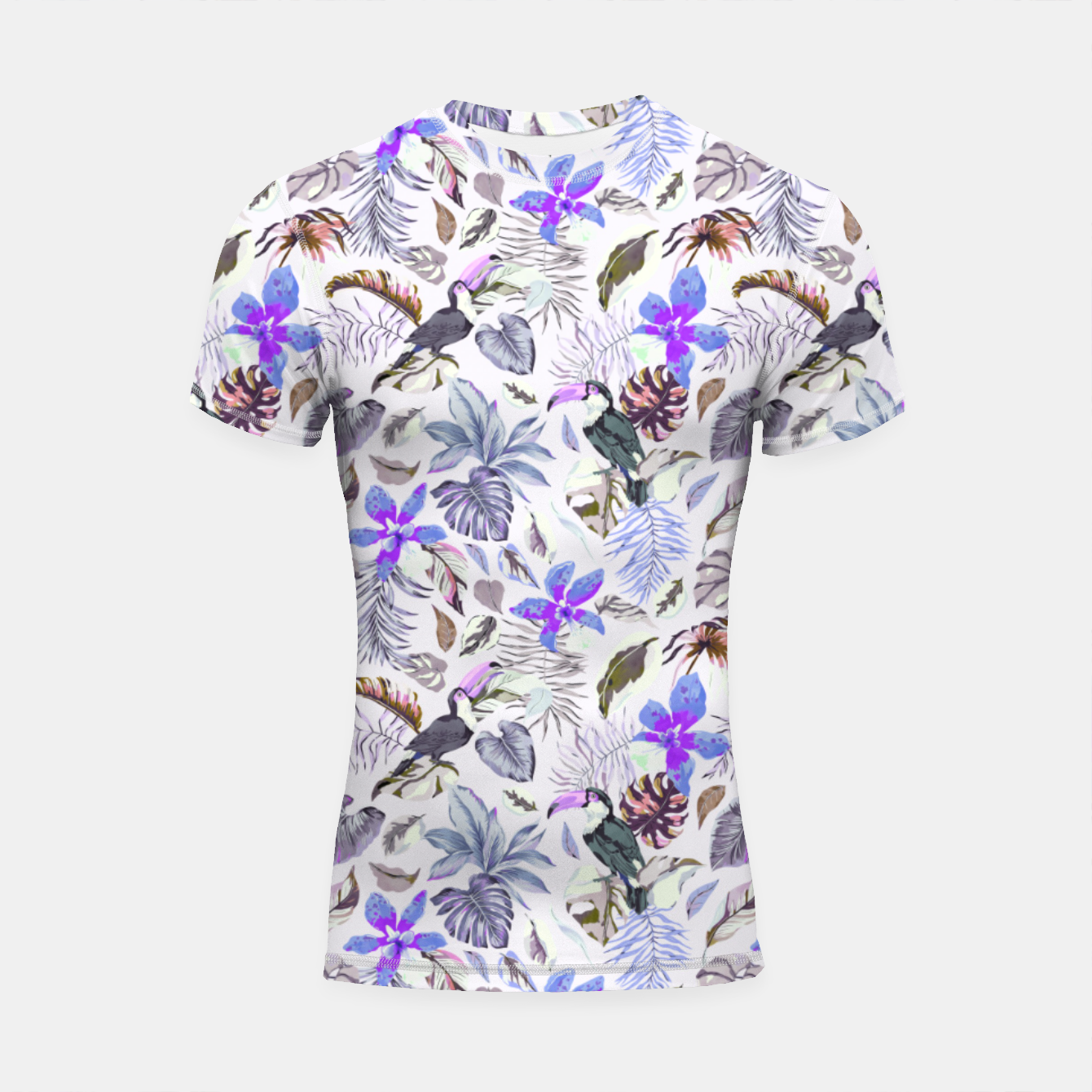 Foto Toucan in the lilac jungle I Shortsleeve rashguard - Live Heroes