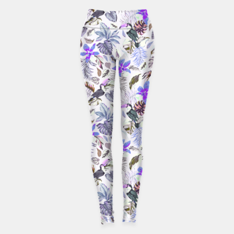 Thumbnail image of Toucan in the lilac jungle I Leggings, Live Heroes