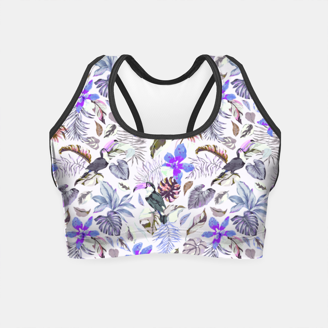 Foto Toucan in the lilac jungle I Crop Top - Live Heroes