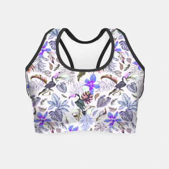 Miniatur Toucan in the lilac jungle I Crop Top, Live Heroes