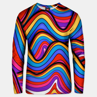 Thumbnail image of Rainbow river waves Unisex sweater, Live Heroes