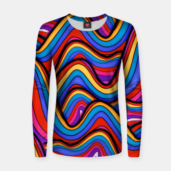 Thumbnail image of Rainbow river waves Women sweater, Live Heroes