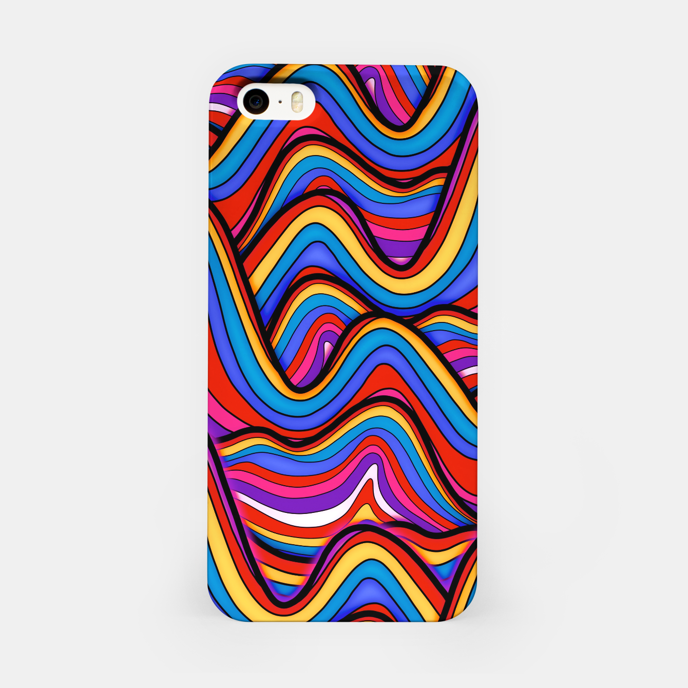 Foto Rainbow river waves iPhone Case - Live Heroes