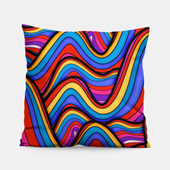 Thumbnail image of Rainbow river waves Pillow, Live Heroes