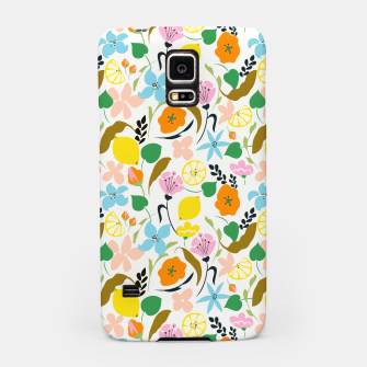 Thumbnail image of Lemon Botanicals, Chic Tropical Floral Summer Garden Colorful Illustration Lemons Tamarind Nature Samsung Case, Live Heroes