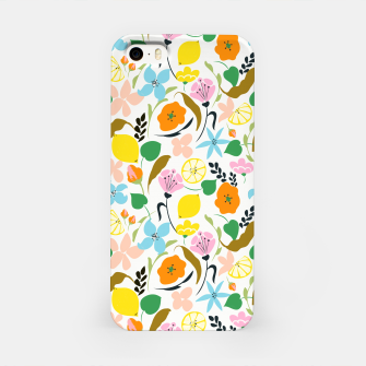 Thumbnail image of Lemon Botanicals, Chic Tropical Floral Summer Garden Colorful Illustration Lemons Tamarind Nature iPhone Case, Live Heroes