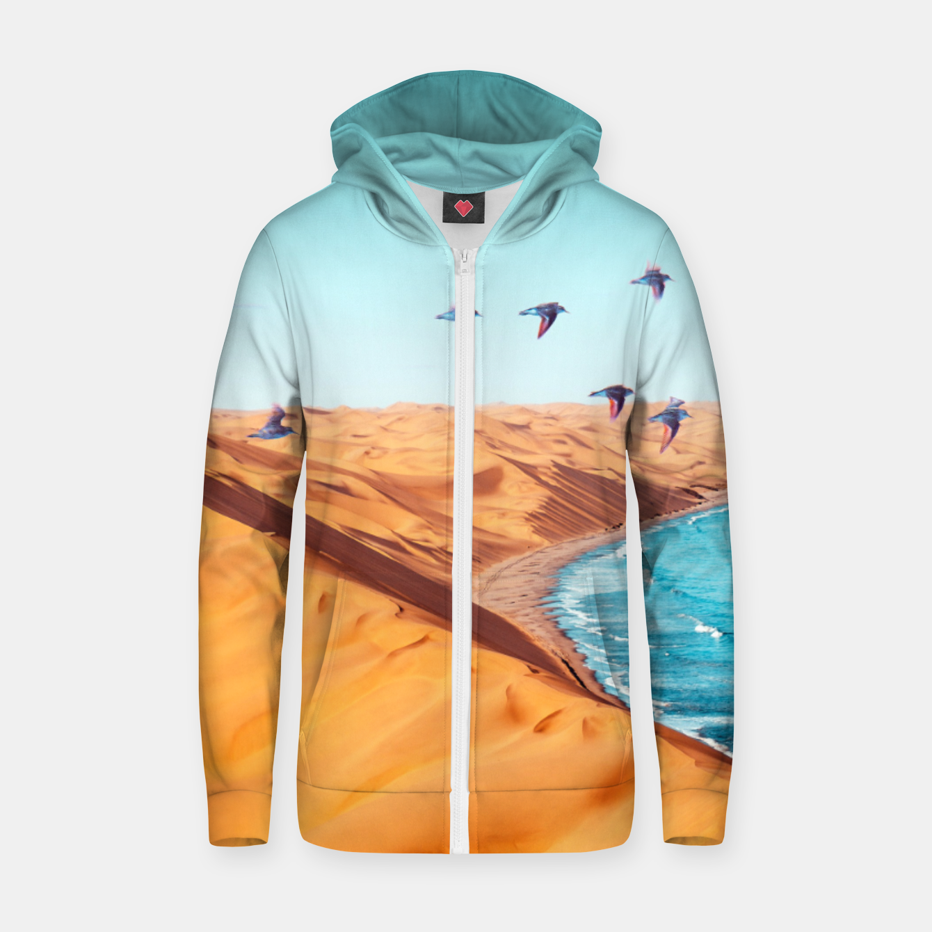 Image of Desert Birds Zip up hoodie - Live Heroes