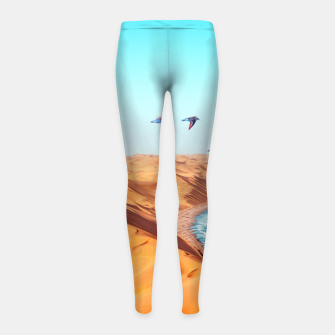 Thumbnail image of Desert Birds Girl's leggings, Live Heroes
