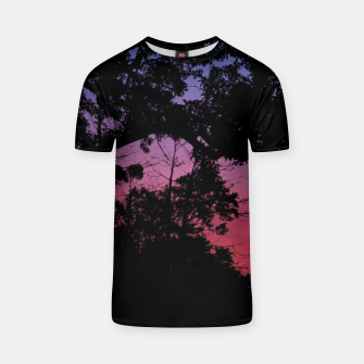 Thumbnail image of Sunset Landscape High Contrast Photo T-shirt, Live Heroes