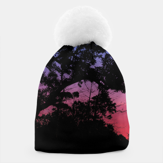 Miniaturka Sunset Landscape High Contrast Photo Beanie, Live Heroes