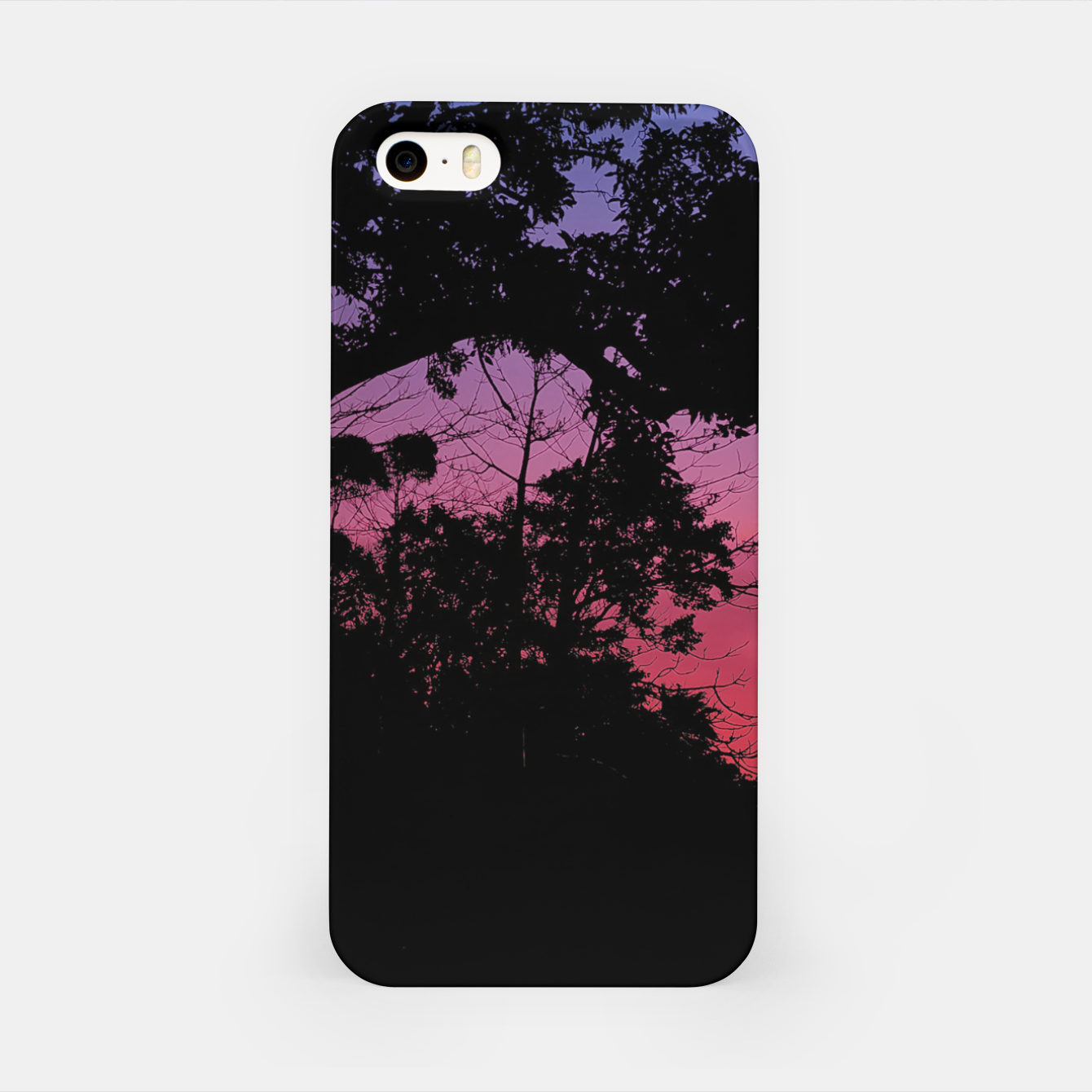 Foto Sunset Landscape High Contrast Photo iPhone Case - Live Heroes
