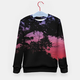 Thumbnail image of Sunset Landscape High Contrast Photo Kid's sweater, Live Heroes