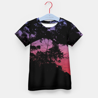 Thumbnail image of Sunset Landscape High Contrast Photo Kid's t-shirt, Live Heroes