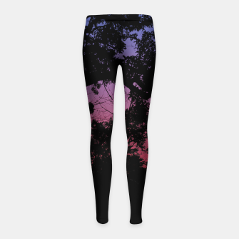Thumbnail image of Sunset Landscape High Contrast Photo Girl's leggings, Live Heroes