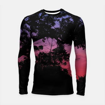 Thumbnail image of Sunset Landscape High Contrast Photo Longsleeve rashguard , Live Heroes
