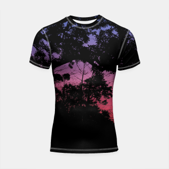 Thumbnail image of Sunset Landscape High Contrast Photo Shortsleeve rashguard, Live Heroes