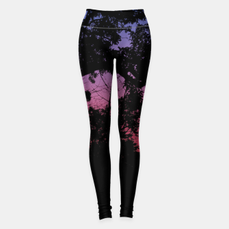 Thumbnail image of Sunset Landscape High Contrast Photo Leggings, Live Heroes