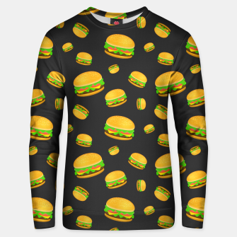 Thumbnail image of Cool and fun yummy burger pattern Unisex sweater, Live Heroes