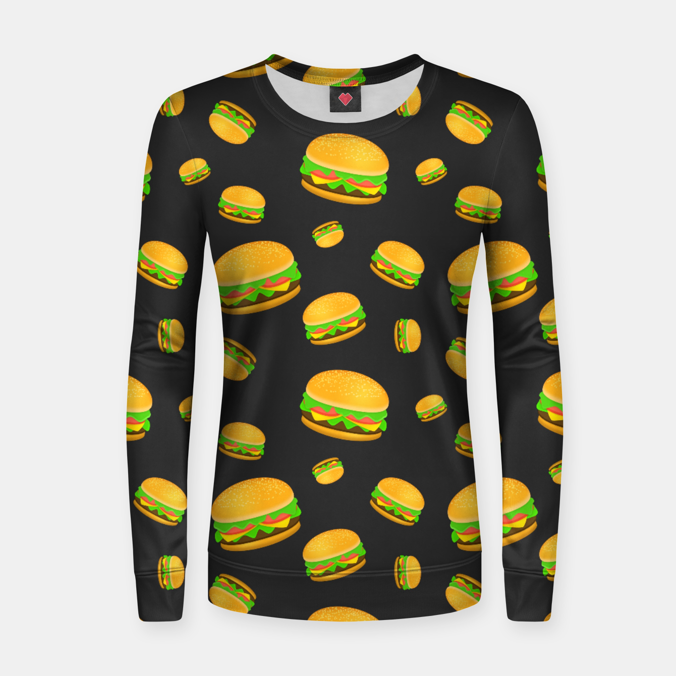 Image of Cool and fun yummy burger pattern Women sweater - Live Heroes
