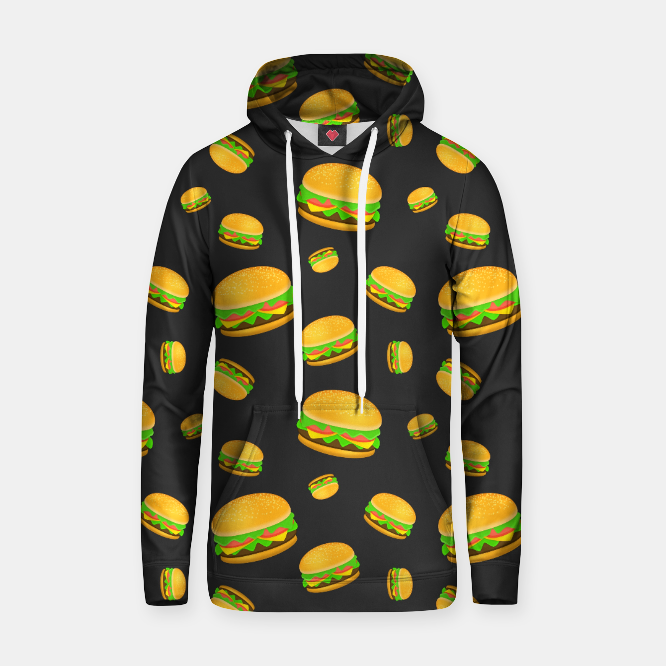 Image of Cool and fun yummy burger pattern Hoodie - Live Heroes
