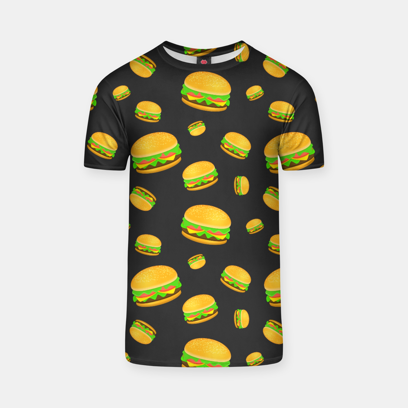Image of Cool and fun yummy burger pattern T-shirt - Live Heroes