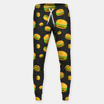 Cool and fun yummy burger pattern Sweatpants obraz miniatury