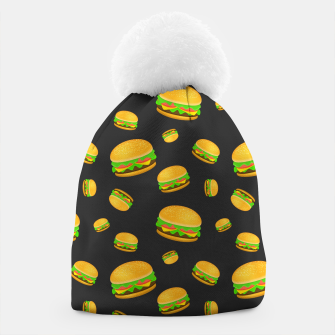 Miniaturka Cool and fun yummy burger pattern Beanie, Live Heroes