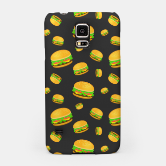 Cool and fun yummy burger pattern Samsung Case obraz miniatury