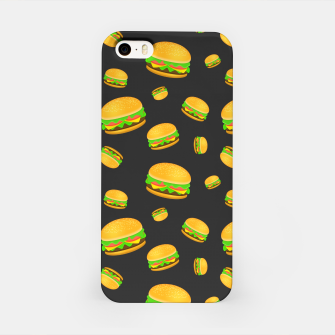 Cool and fun yummy burger pattern iPhone Case obraz miniatury