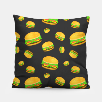 Cool and fun yummy burger pattern Pillow thumbnail image