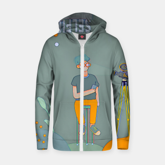 Thumbnail image of Selfie Zip up hoodie, Live Heroes