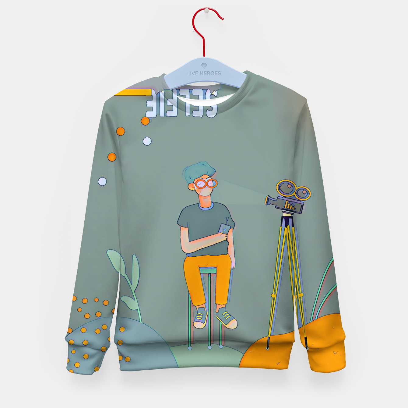 Image of Selfie Kid's sweater - Live Heroes