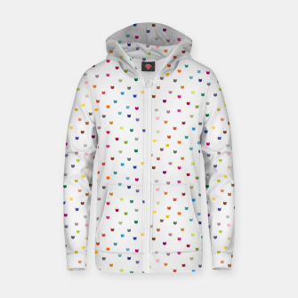 Thumbnail image of Rainbow cat confetti Zip up hoodie, Live Heroes