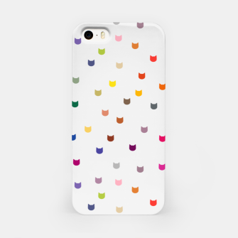 Thumbnail image of Rainbow cat confetti iPhone Case, Live Heroes