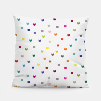 Thumbnail image of Rainbow cat confetti Pillow, Live Heroes