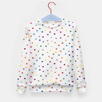 Thumbnail image of Rainbow cat confetti Kid's sweater, Live Heroes