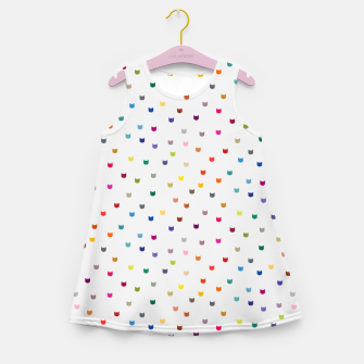 Thumbnail image of Rainbow cat confetti Girl's summer dress, Live Heroes