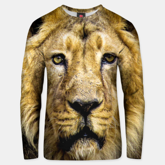 Thumbnail image of Face of Lion Unisex sweater, Live Heroes