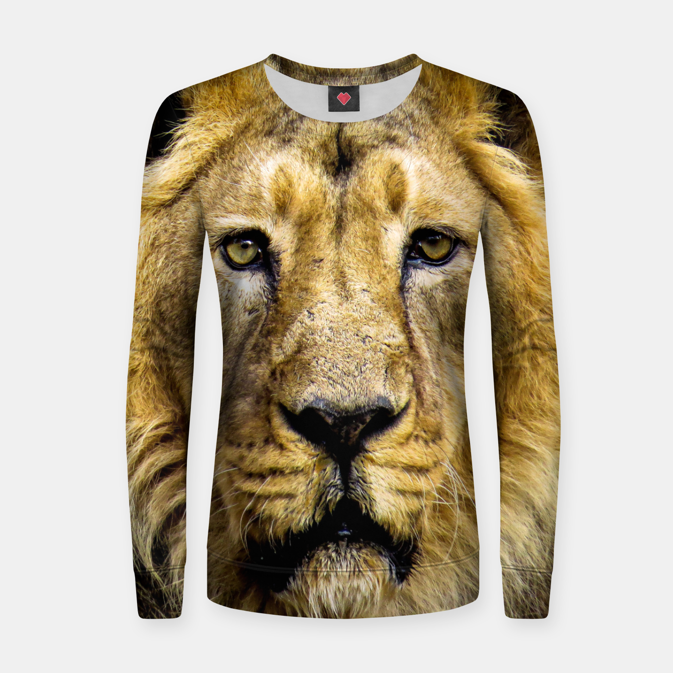 Image of Face of Lion Women sweater - Live Heroes