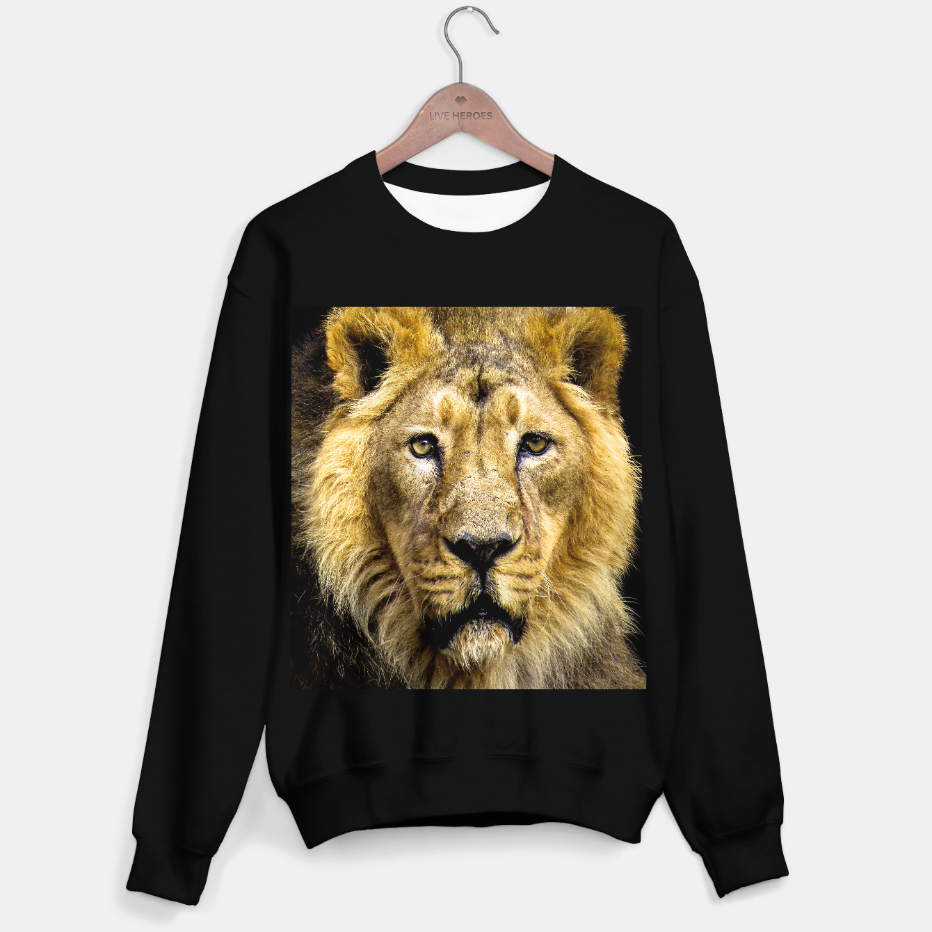 Image of Face of Lion Sweater regular - Live Heroes