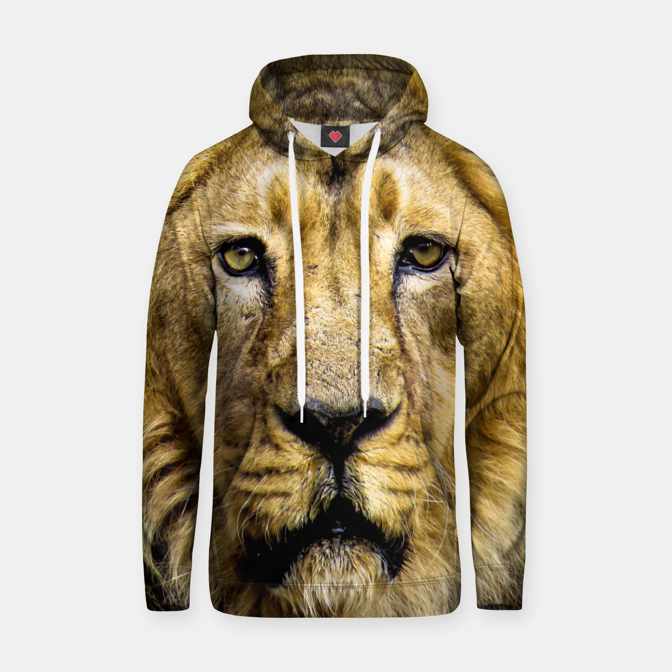 Image of Face of Lion Hoodie - Live Heroes