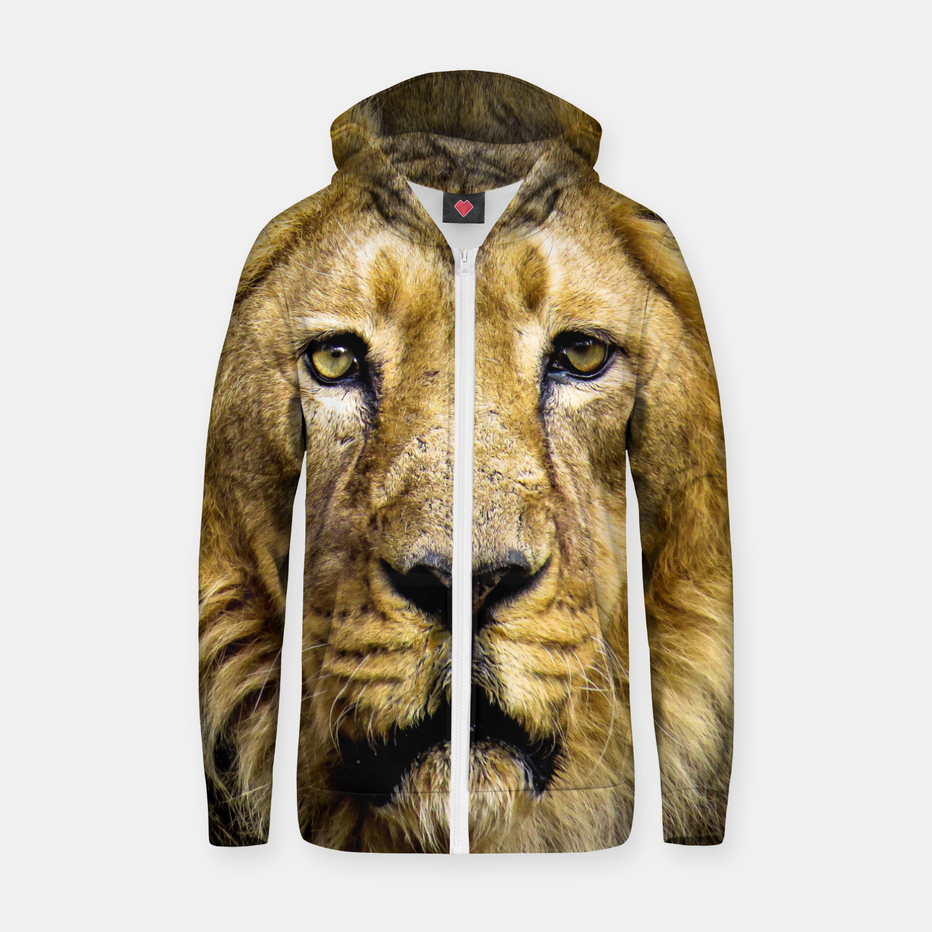 Image of Face of Lion Zip up hoodie - Live Heroes