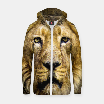 Face of Lion Zip up hoodie thumbnail image
