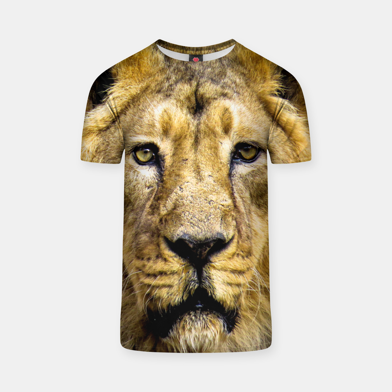 Image of Face of Lion T-shirt - Live Heroes