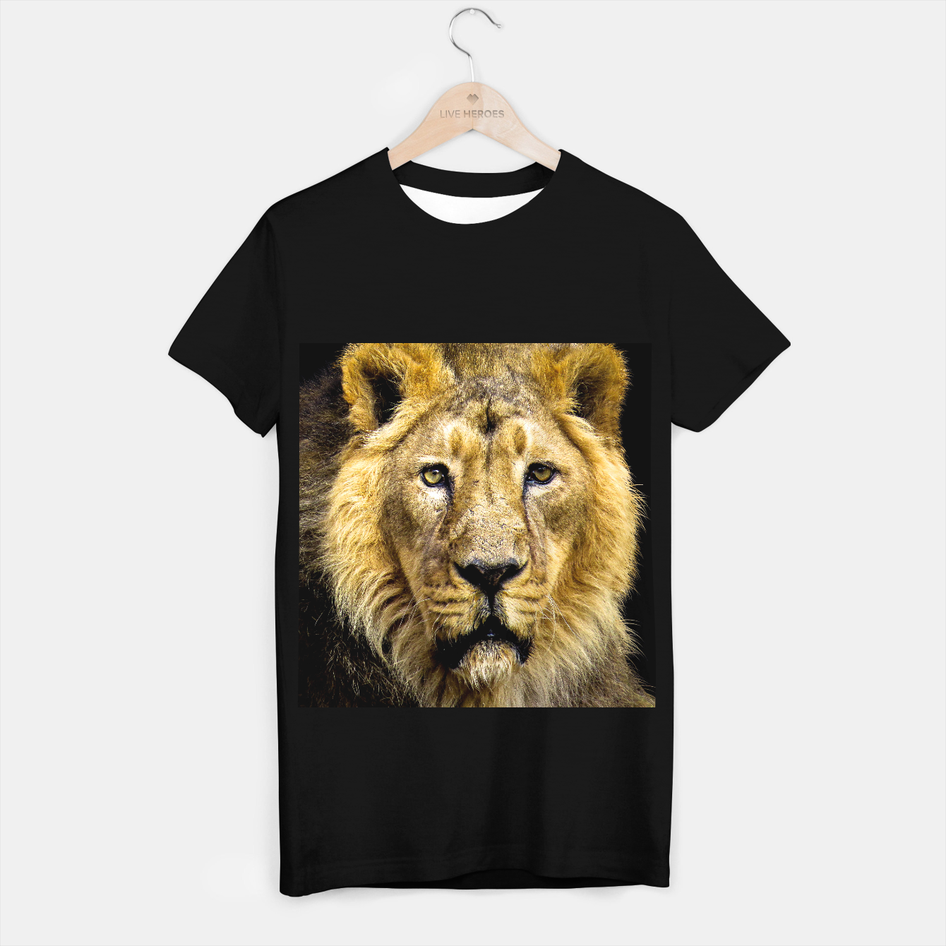 Image of Face of Lion T-shirt regular - Live Heroes