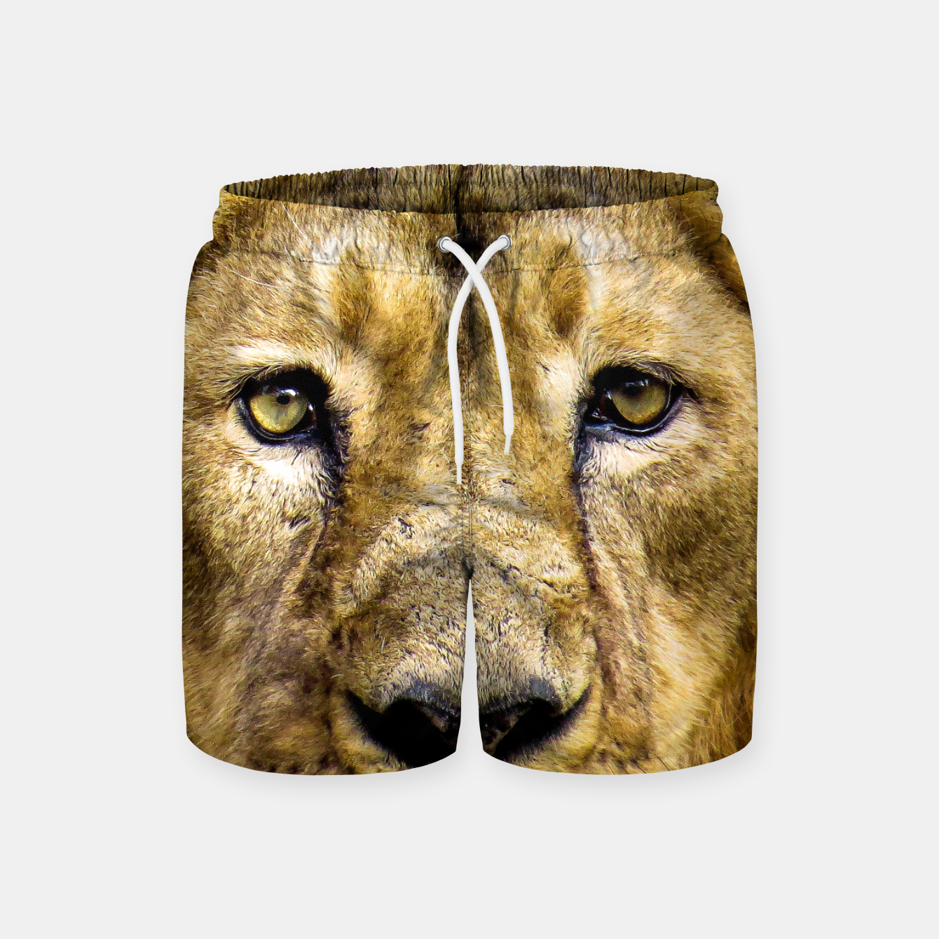 Image of Face of Lion Swim Shorts - Live Heroes